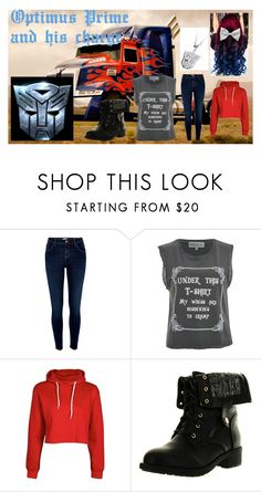 """""""Optimus Prime and his female charge outfit"""" by mysterious-archer ❤ liked on Polyvore featuring River Island, Wildfox, Boohoo, Refresh and optimusprime"""