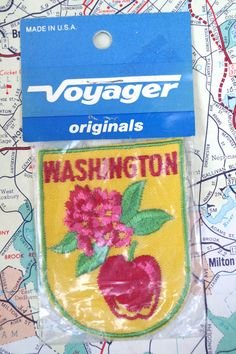 Vintage 1970s Travel Souvenir Cloth Patch from by retrowarehouse