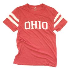 Limited Edition. Represent Ohio in style in this vintage football tee. These shirts run slightly smaller than our other shirts. Example, if you wear a medium