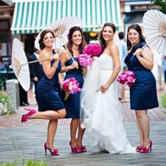 A pink and navy wedding is so bright, vibrant, and refreshing!