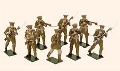 817 Toy Soldiers Set British Infantry    An Officer, a Sergeant and six Privates, 1914.    54mm First World War 1914 to 1918    All hand painted Toy Soldier sets packed in Red Boxes  Cast in quality white metal, hand painted gloss enamels  Available as unpainted casting, kit with colour photo.  http://www.photoeditingcompany.com/