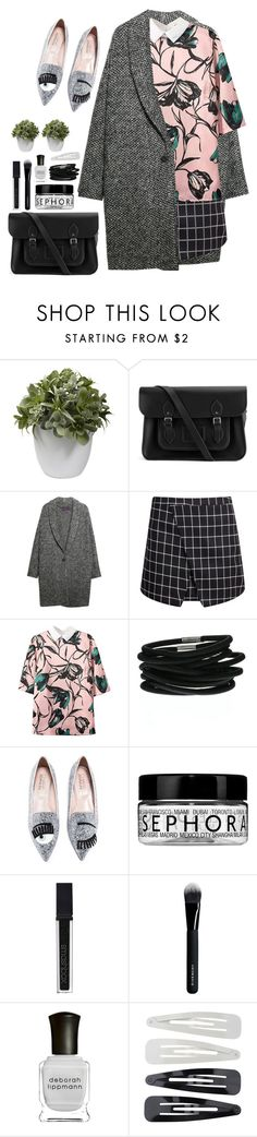 """Silverr"" by dorienooos ❤ liked on Polyvore featuring moda, Nearly Natural, The Cambridge Satchel Company, Violeta by Mango, Sephora Collection, Smashbox, Givenchy, Deborah Lippmann, Forever 21 ve women's clothing"
