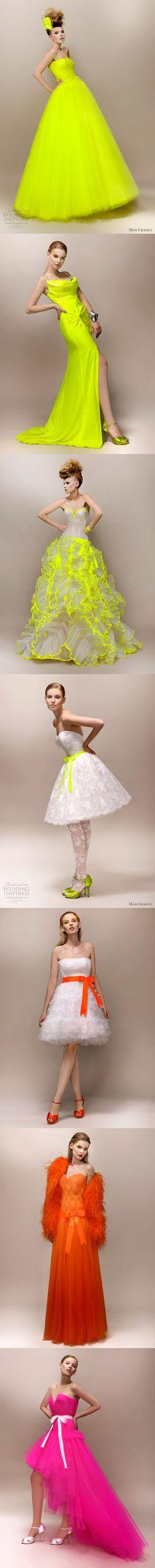 Une série de robe de mariée lumineuse créées par Max chaoul.