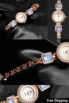 af669229cb0 Crystal Bracelet Luxury Brand Rose Gold Dress Quartz Watch  amp  Ladies  Watches  vintagejewelry