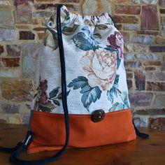 Rosen Turnbeutel vintage bag handcrafted von NouvelleVieHandcraft