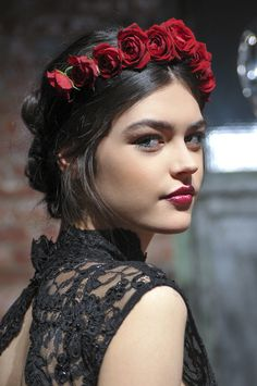 rose crown hair accessory