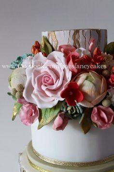 Flower cake by Zoe's Fancy Cakes - http://cakesdecor.com/cakes/238479-flower-cake