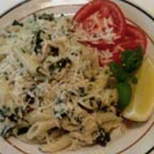 Penne with Tuna and Fresh Basil.