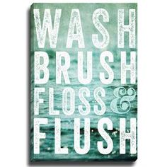 Wash Brush Floss byLisa Russo Graphic Art on Canvas