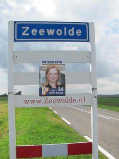 En zelfs in Flevoland duiken mijn posters op.