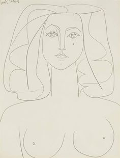 Pablo Picasso Drawings, Picasso Portraits, Picasso Paintings, Picasso Art, Line Drawing, Drawing Sketches, Matisse Drawing, Impressionist Paintings, Art Inspo