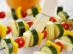 Kabobs - Simple, easy-to-grill kabobs allow guests to create their own from-the-garden masterpiece http://www.hgtvgardens.com/recipes/celebrate-memorial-day-with-fresh-from-the-garden-food