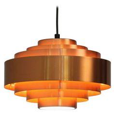 Hammerborg copper pendant | 1stdibs.com