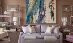Lilac Living Room by Grant K. Gibson at grantkgibson.com