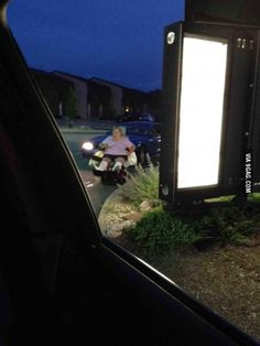 Behind us in McDonald's drive thru...
