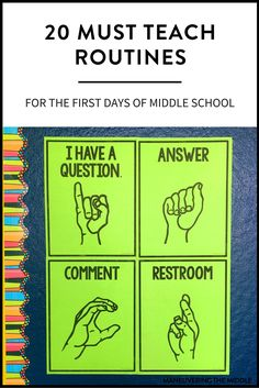 Must Teach Middle School Routines and Procedures is part of Teaching middle school - 20 middle school routines and procedures to keep your students on the right track and out of trouble Set your classroom up for success! Classroom Procedures, Classroom Behavior, Math Classroom, Classroom Management, Middle School Procedures, Behavior Management, Classroom Organization, Middle School Incentives, 5th Grade Behavior