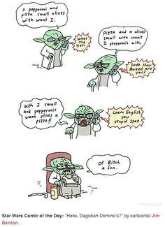 Yoda Ordering a Pizza