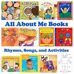 Use All About Me books, rhymes, songs, and activities to provide your preschool and kindergarten children with opportunities to learn about themselves, their bodies, their emotions and feelings, and to discover everything else that makes them special.