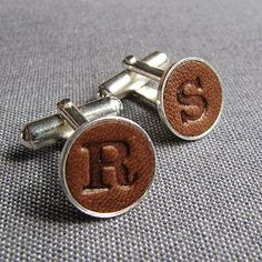 Personalised Leather Cufflinks - gifts for him