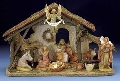 This Fontanini nativity scene comes with a wonderful LED lighted stable that stands H. The scene features 7 pieces and that stand 5 tall. Christmas Nativity Set, Led Christmas Lights, Christmas Past, Christmas Holidays, Christmas Crafts, Christmas Decorations, Christmas Ornaments, Outdoor Christmas, Fontanini Nativity