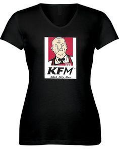 Cotton Hill Killed Fitty Men Ladies V Neck Cotton T Shirt