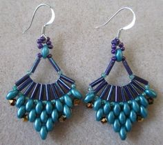 Flabelllum Earrings PDF Pattern Instant Download
