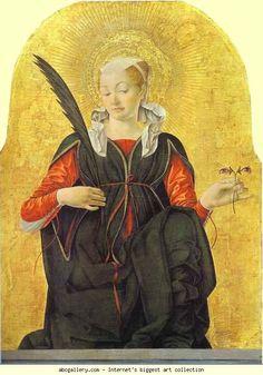 Francesco del Cossa. St. Lucy. Olga's Gallery.