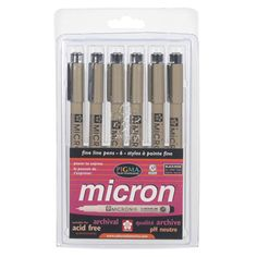 Sakura+Pigma+Micron+Pen+-+6+piece+Set,+Black+