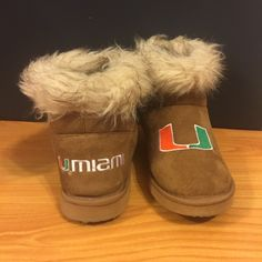 Miami Hurricanes Slippers Gently Used | Miami Hurricanes | Slippers | Fits A Size 7 | Warm | Super Cute  Shoes Slippers