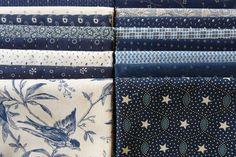 Blue Variety Fat Quarter Bundle16 - The Quilted Crow Quilt Shop, folk art quilt fabric, quilt patterns, quilt kits, quilt blocks