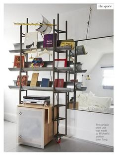 Great shelf in Michael's bedroom from Issue 32 (March 2013) of Covet Garden magazine. Photographed by Jodi Pudge. #CovetGarden #Shelf