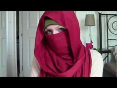 Beautiful easy niqab style.  ▶ Niqab Tutorial: Desert Rose - YouTube