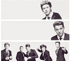 One direction in black and white= my death