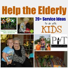 read to elderly, decorate doors for holidays, hand out stickers, attend a lunch with seniors at nursing home, sing or play piano for them, etc etc