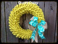 18 bubble petal burlap wreath burlap wreath by OOPSYDAISYDESIGNS, $73.00