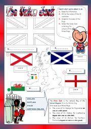 English teaching worksheets: The Union Jack