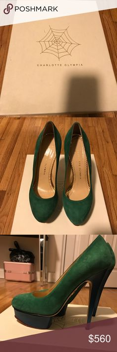 Charlotte Olympia Heels Charlotte Olympia Rainbow Dolly Suede Pumps. Excellent Condition. Charlotte Olympia Shoes Heels