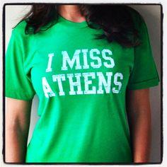 I MISS ATHENS (OHIO). $25.00, via Etsy.