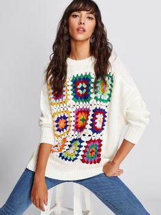 Pull Crochet, Mode Crochet, Crochet Jumper, Diy Crochet, Knitting Blogs, Knitting Patterns, Crochet Patterns, Crochet Fashion, Beautiful Crochet