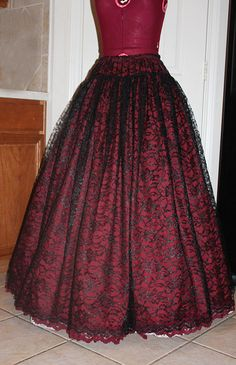 Lace Decadance Gothic Steampunk Victorian Skirt  by AzAcCouture, $110.00