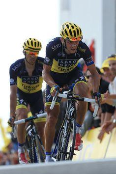 """2013 14/7 rit 15 Mont Ventoux > Roman Kreuziger en Alberto Contador Velasco worden 5de en 6de op 1'40"""""""