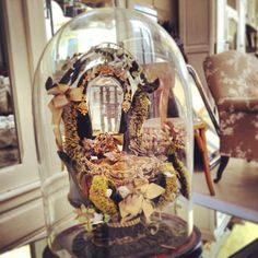 Antique French Glass Marriage Dome. Given to a happy couple on their wedding day
