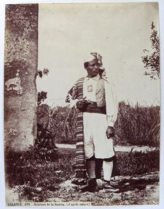 Habitante de la huerta valenciana. Fotografía de J. Laurent, 1870