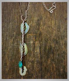 Gorgeous free-spirited necklace!! By Merry Beth Myrick #merrybethmyrickdesigns #gypsy #bohemian #necklace #leather #turquoise #nashvillefashionalliance