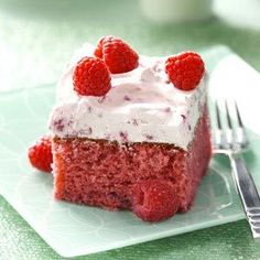 Raspberry Cake Recipe   ---> since I can't do strawberry this is the next best thing!.