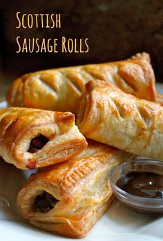 sausage rolls (this recipe uses all ground beef instead of a mix of beef/pork)