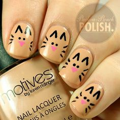cute little kitty nails, I'd like one for an accent Instagram photo by @Pack A Punch Polish via ink361.com