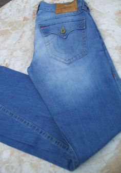 True Religion Denim Jeans Joey Lt Prankst Mens Size 31 X 35 Light Wash - Jeans