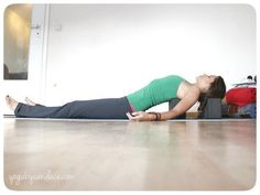 Yoga pose for bad posture for those who sit at a desk all day.