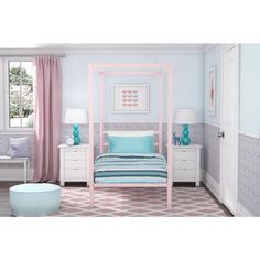 The DHP Modern Metal Canopy Bed is the perfect enclave for your child to have a peaceful night's sleep; alternatively the canopy bed can be used as a beautiful guest bed, you'll be sure to leave an ex